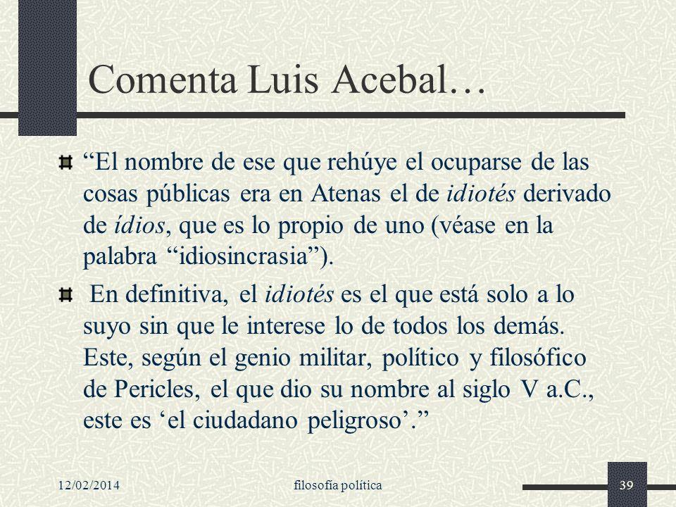 Comenta Luis Acebal…