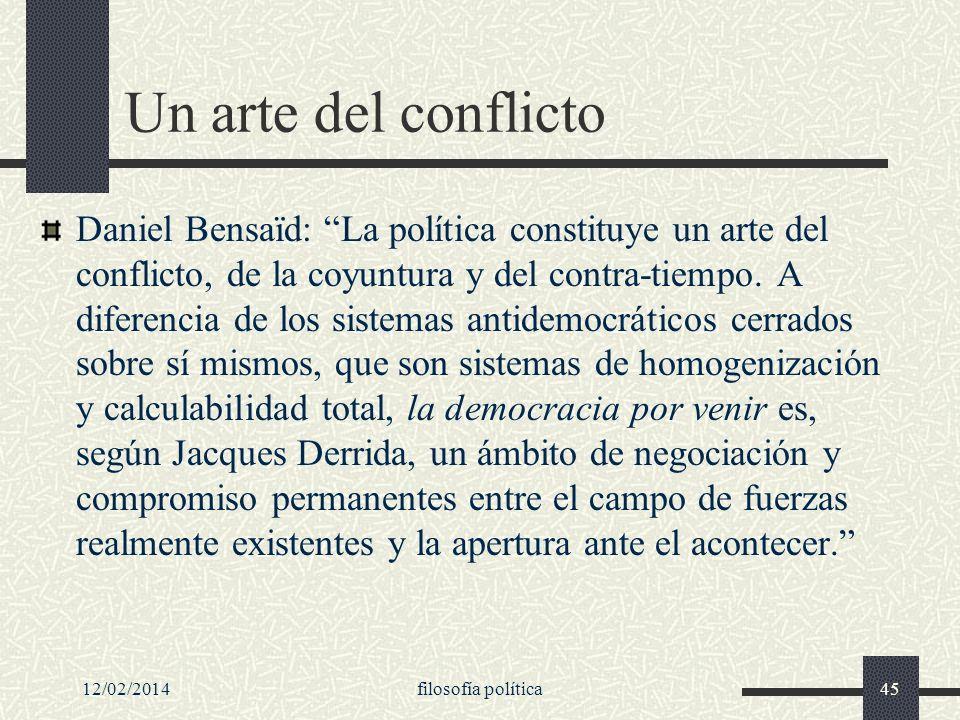 Un arte del conflicto
