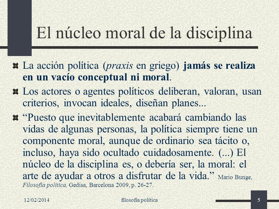 El núcleo moral de la disciplina