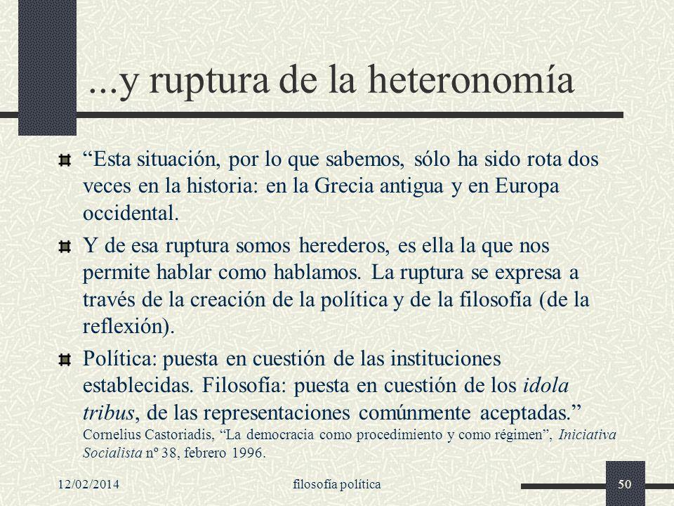 ...y ruptura de la heteronomía
