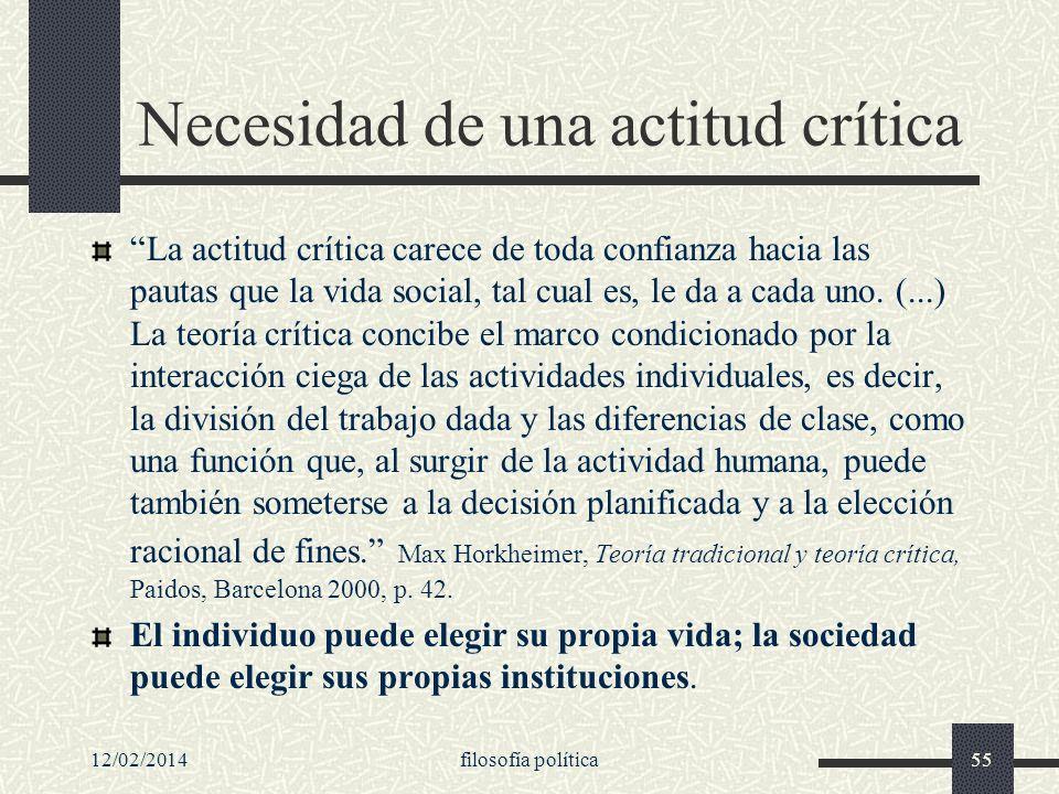 Necesidad de una actitud crítica