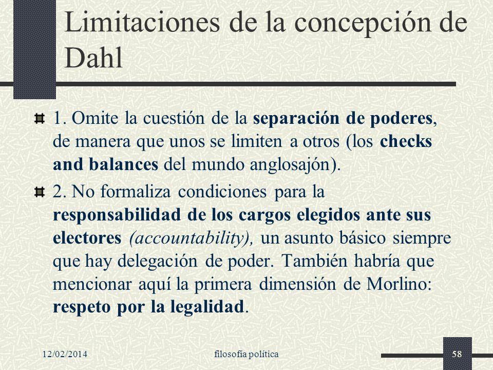 Limitaciones de la concepción de Dahl