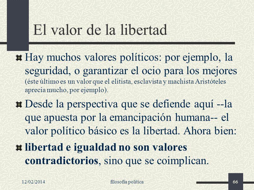 El valor de la libertad