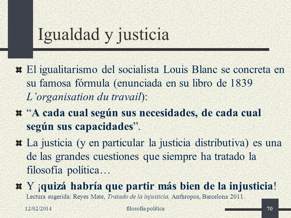 Igualdad y justicia