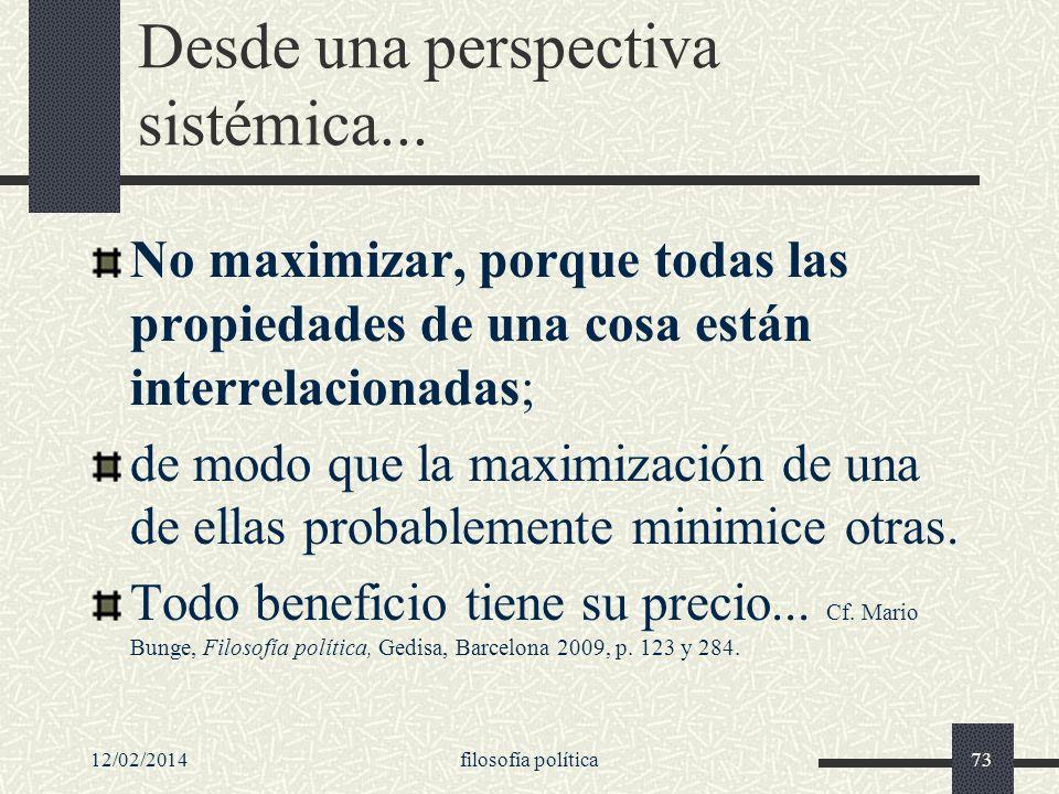 Desde una perspectiva sistémica...