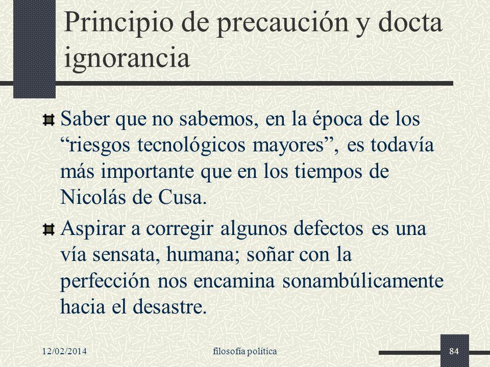 Principio de precaución y docta ignorancia