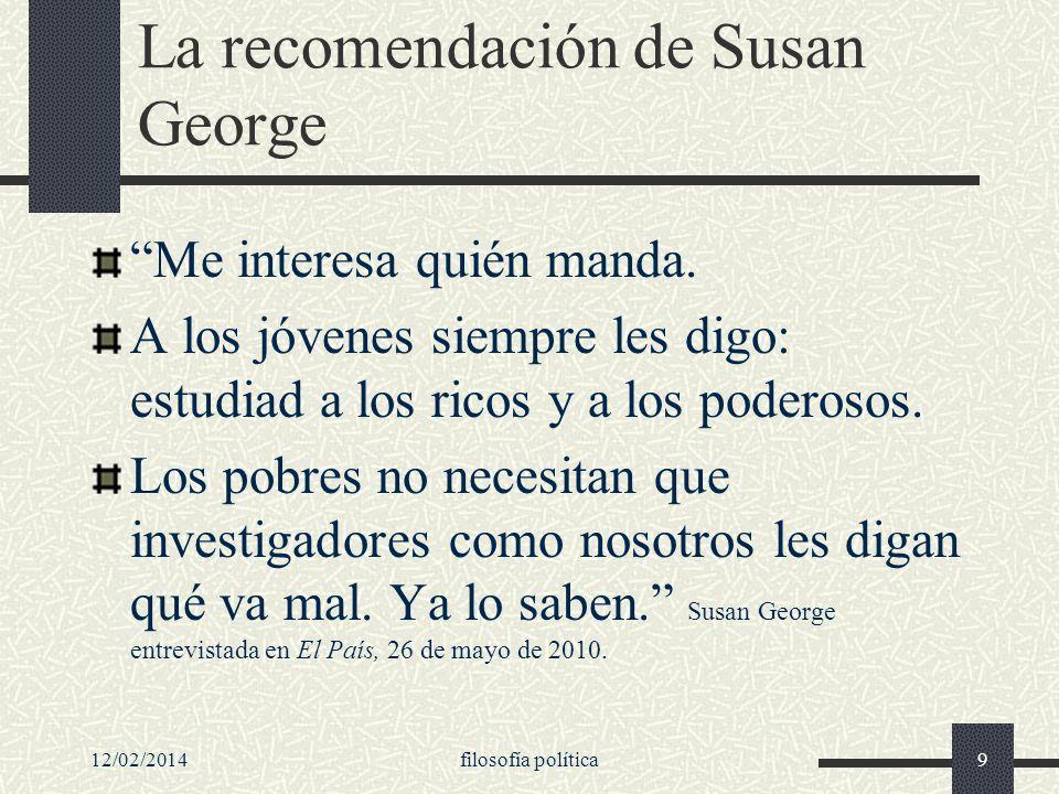 La recomendación de Susan George