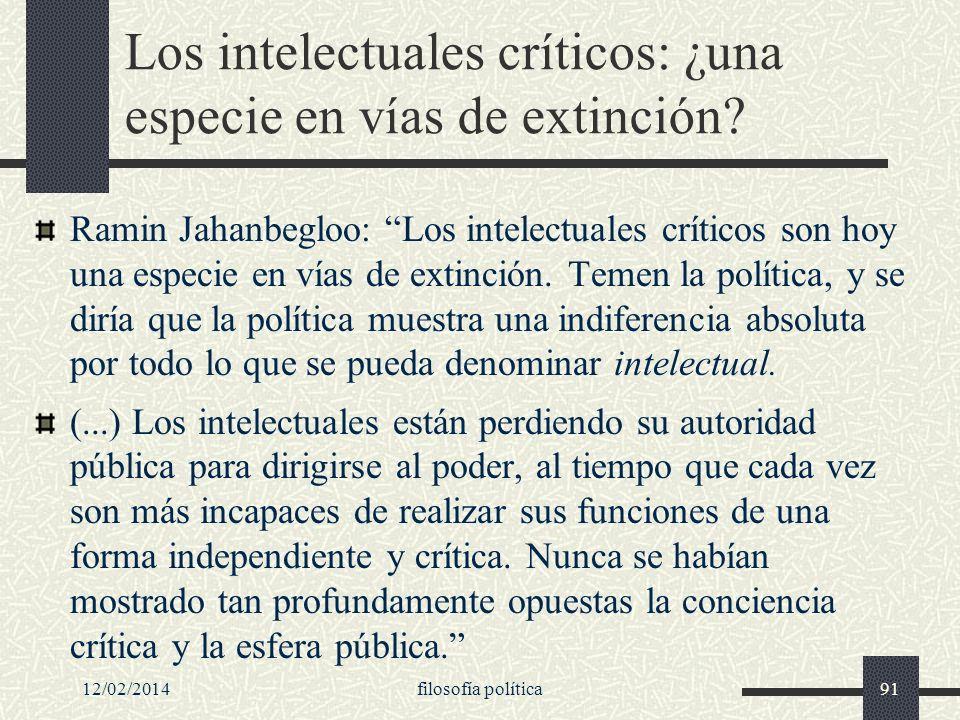 Los intelectuales críticos: ¿una especie en vías de extinción
