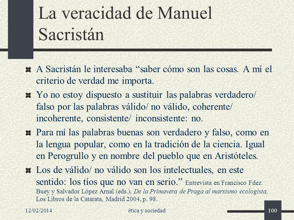La veracidad de Manuel Sacristán