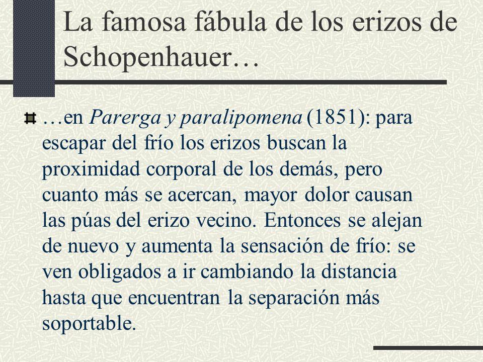 La famosa fábula de los erizos de Schopenhauer…