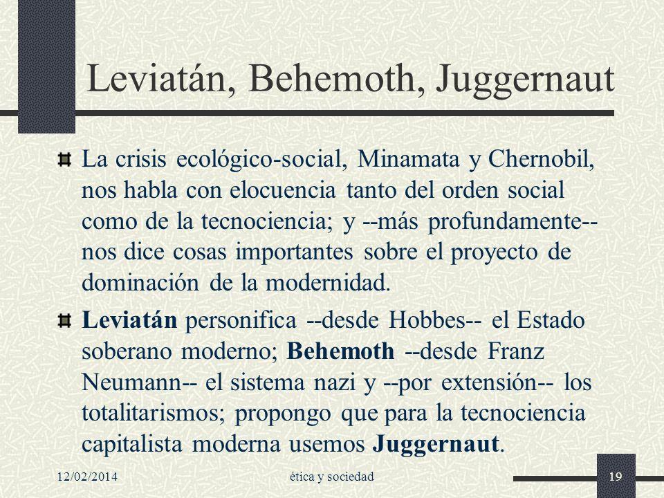 Leviatán, Behemoth, Juggernaut