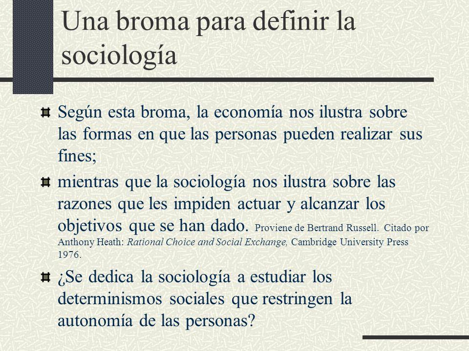Una broma para definir la sociología