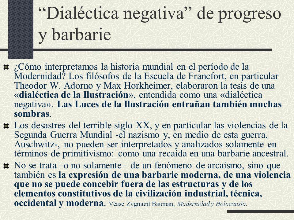 Dialéctica negativa de progreso y barbarie
