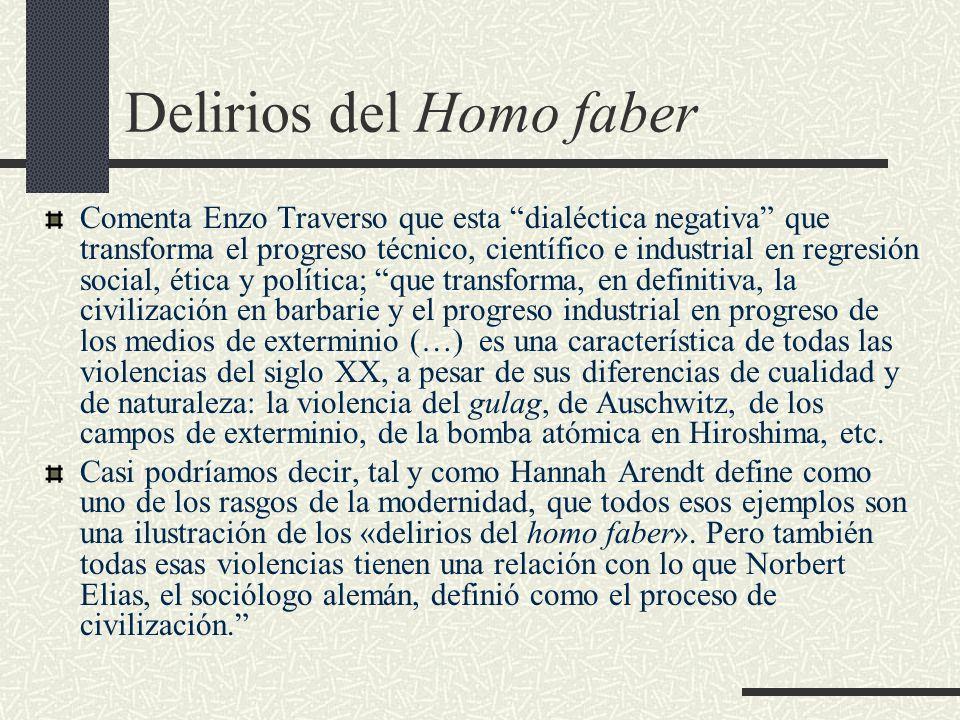 Delirios del Homo faber