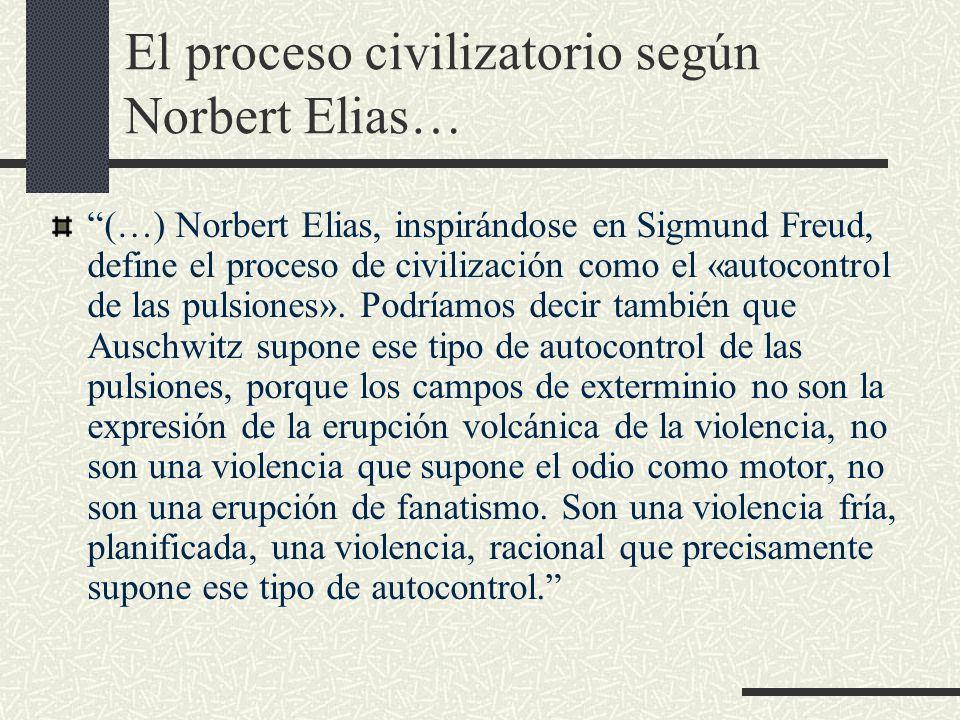 El proceso civilizatorio según Norbert Elias…