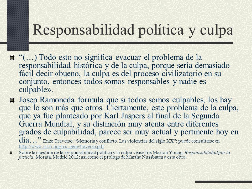 Responsabilidad política y culpa