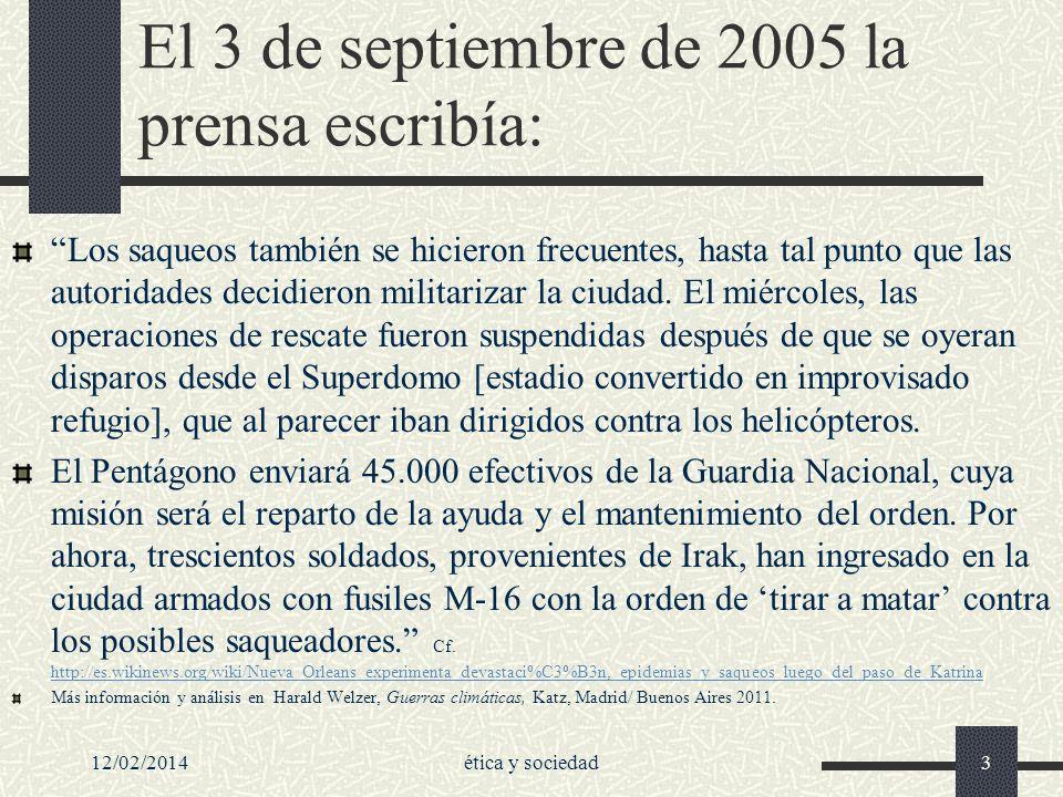 El 3 de septiembre de 2005 la prensa escribía: