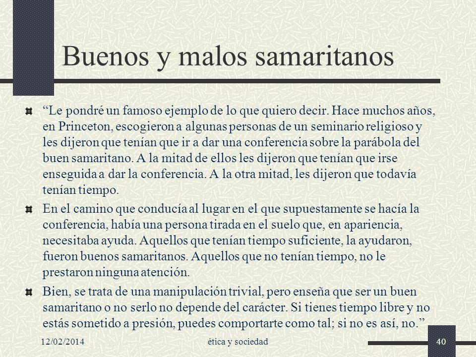 Buenos y malos samaritanos