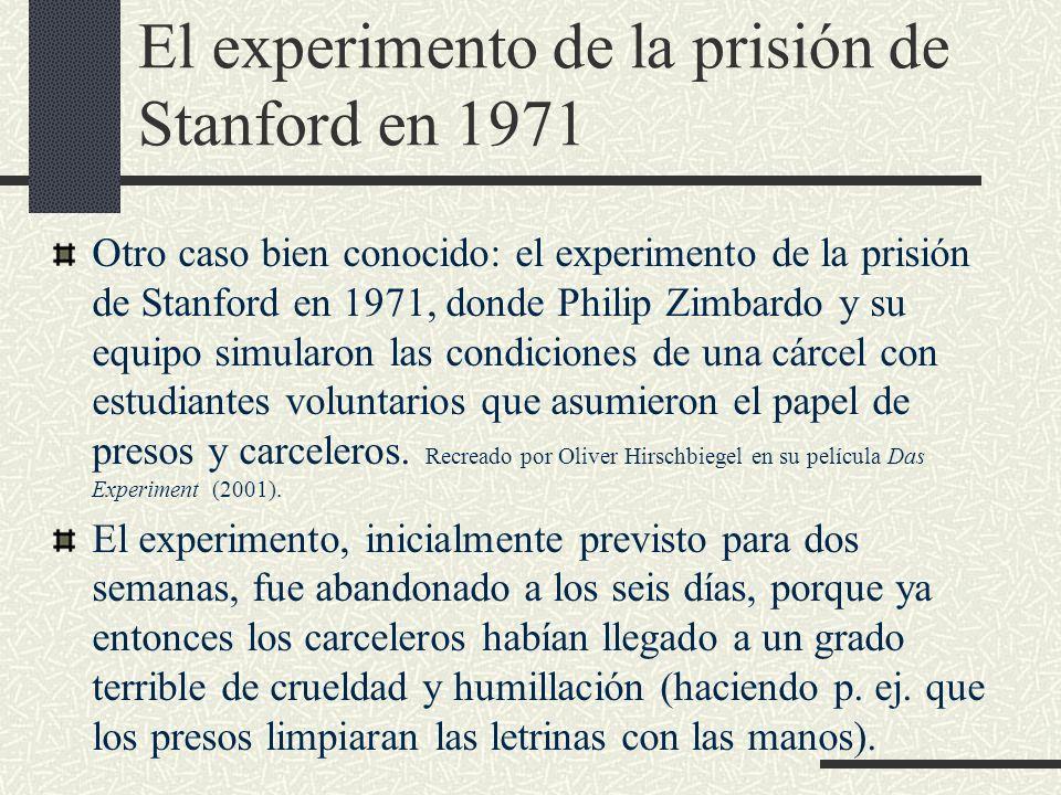 El experimento de la prisión de Stanford en 1971