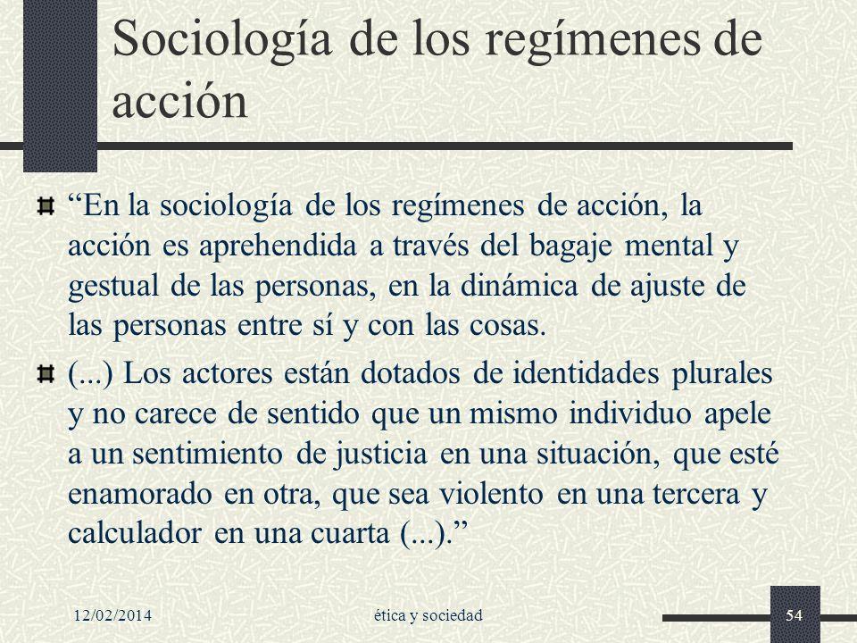 Sociología de los regímenes de acción