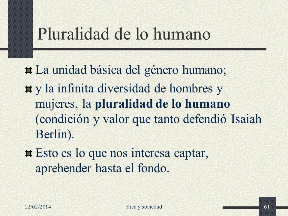 Pluralidad de lo humano