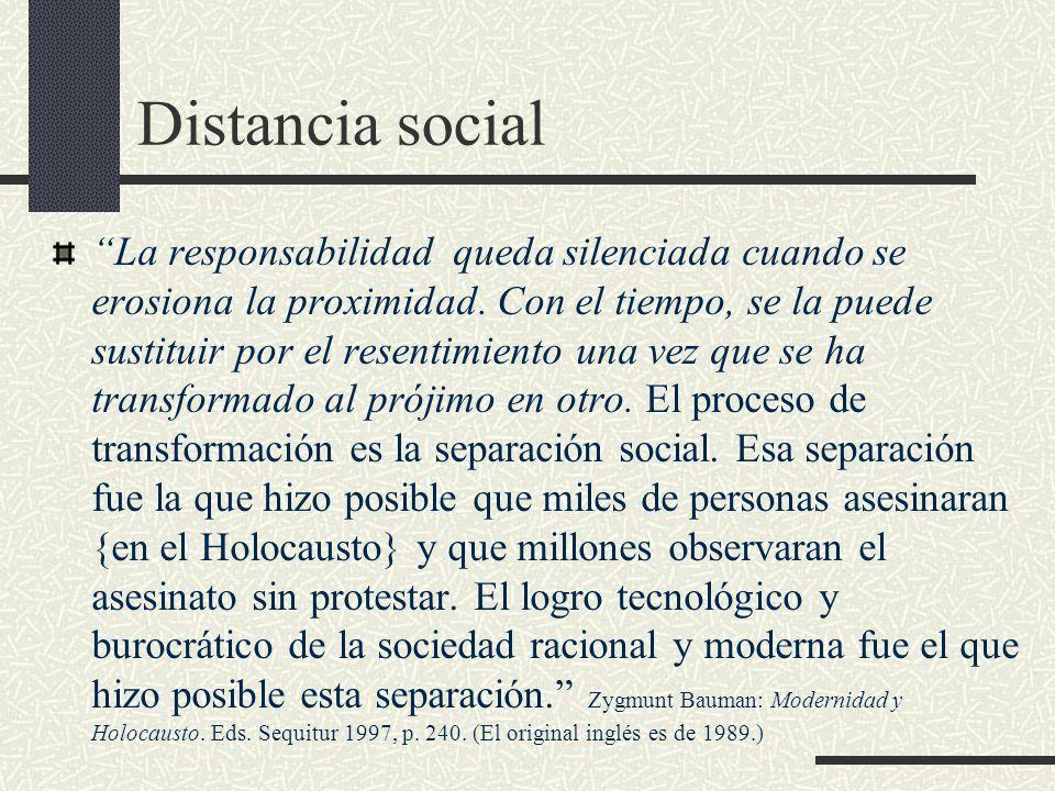 Distancia social
