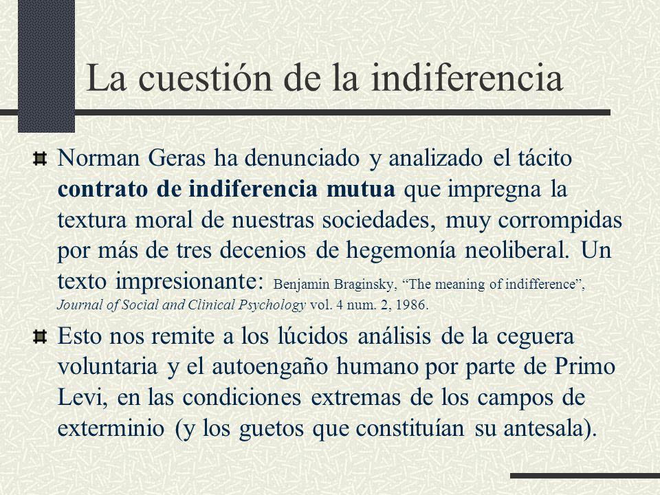 La cuestión de la indiferencia