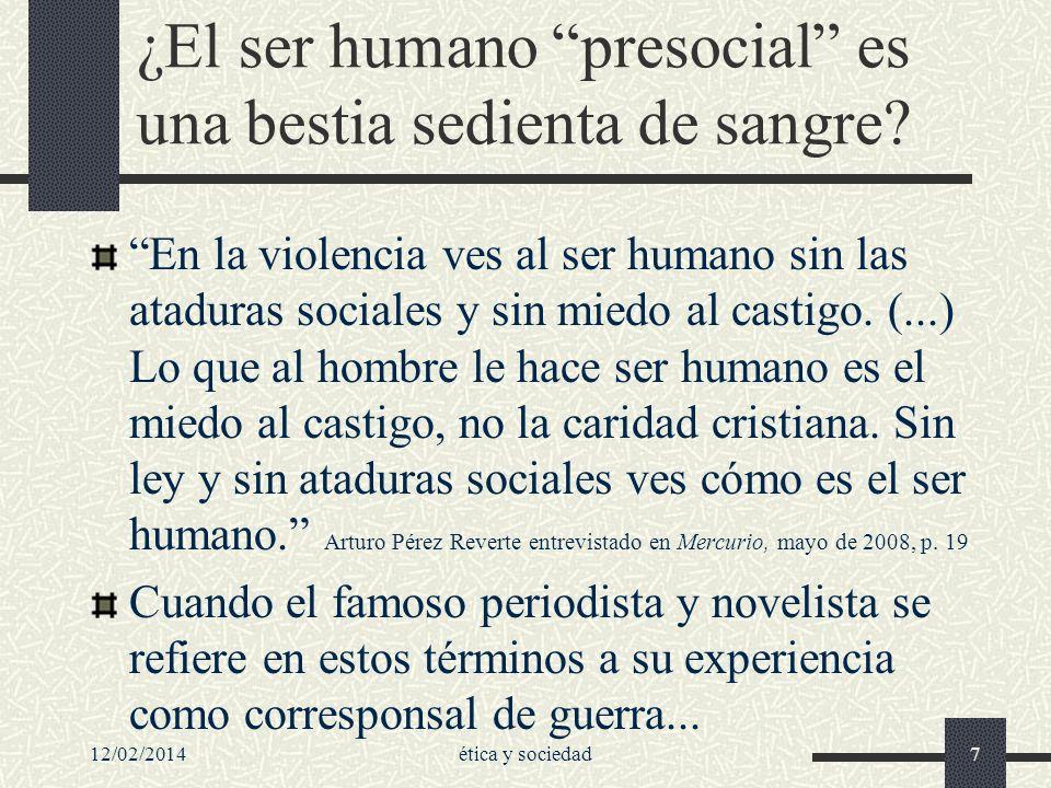 ¿El ser humano presocial es una bestia sedienta de sangre