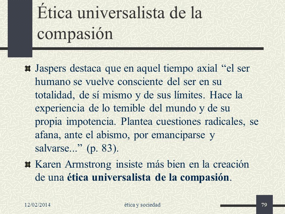Ética universalista de la compasión