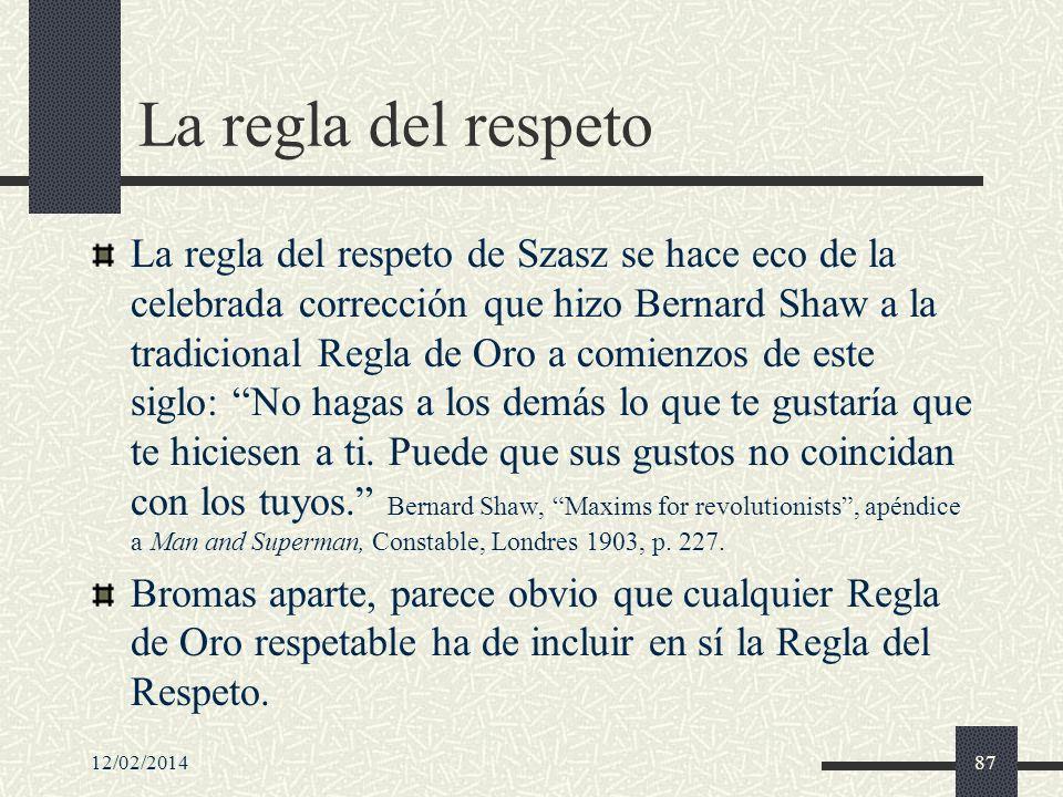 La regla del respeto