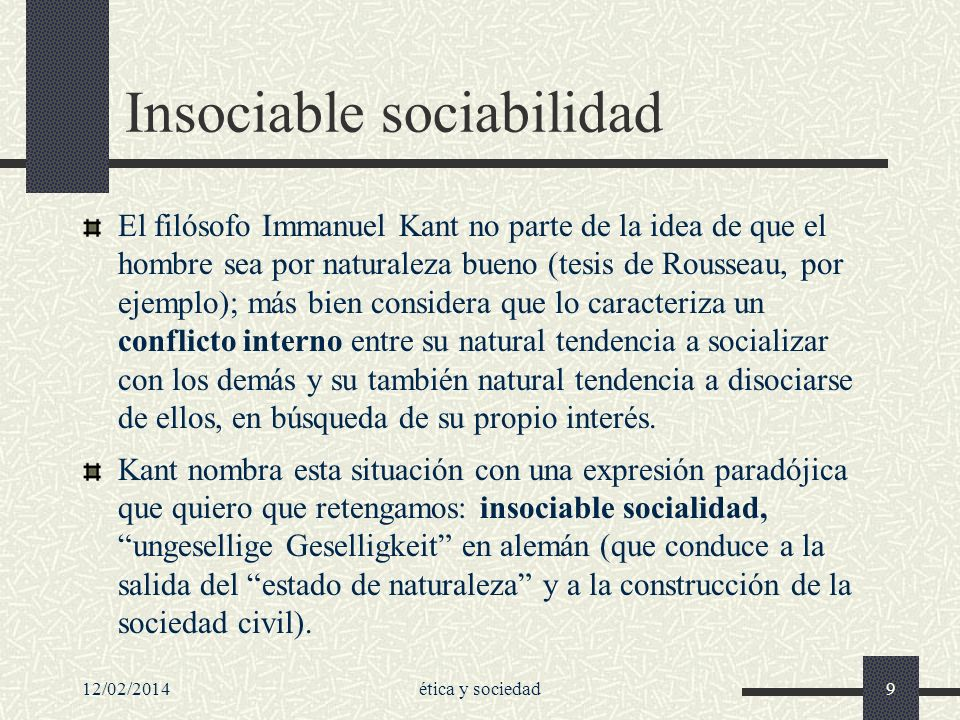 Insociable sociabilidad
