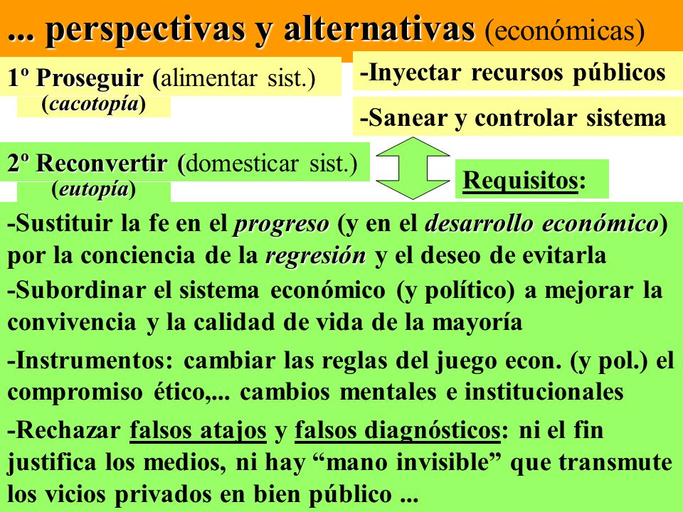 ... perspectivas y alternativas (económicas)