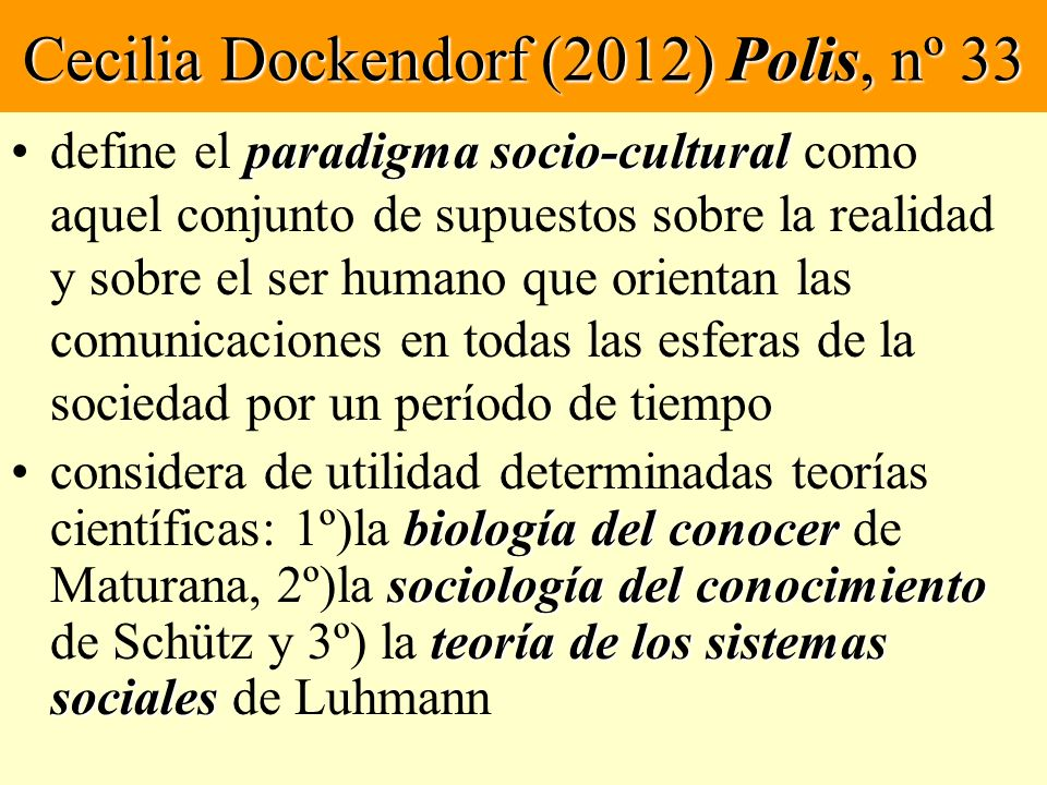 Cecilia Dockendorf (2012) Polis, nº 33