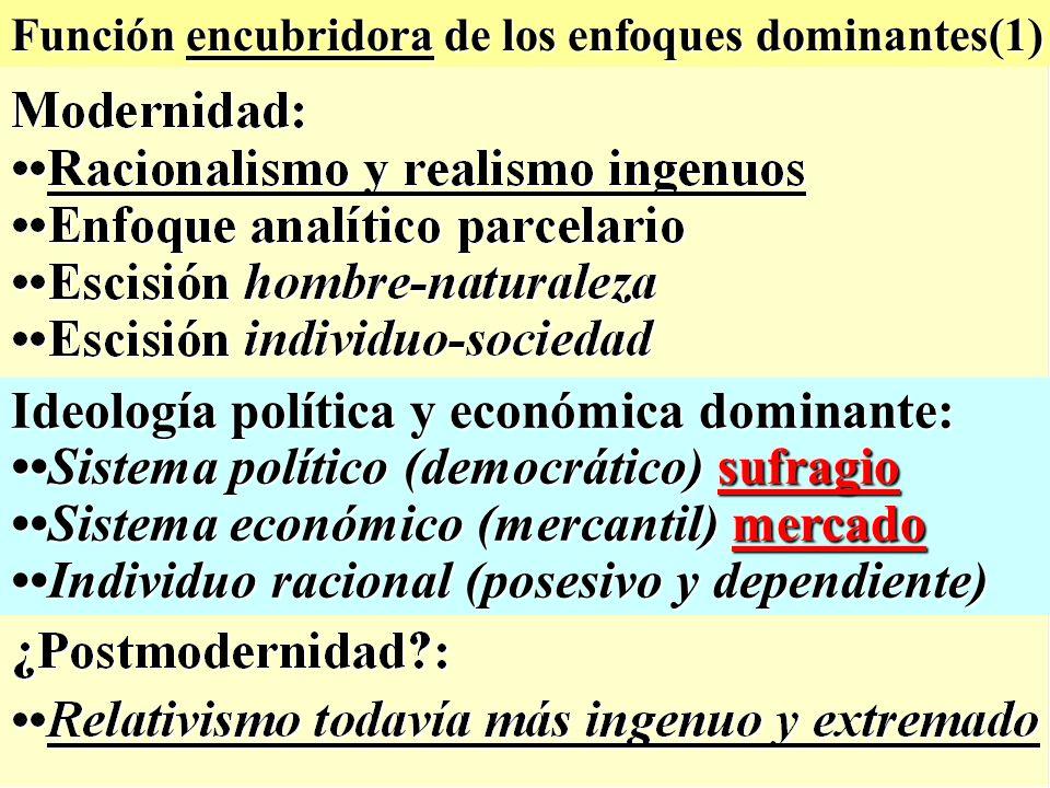 Ideología política y económica dominante:
