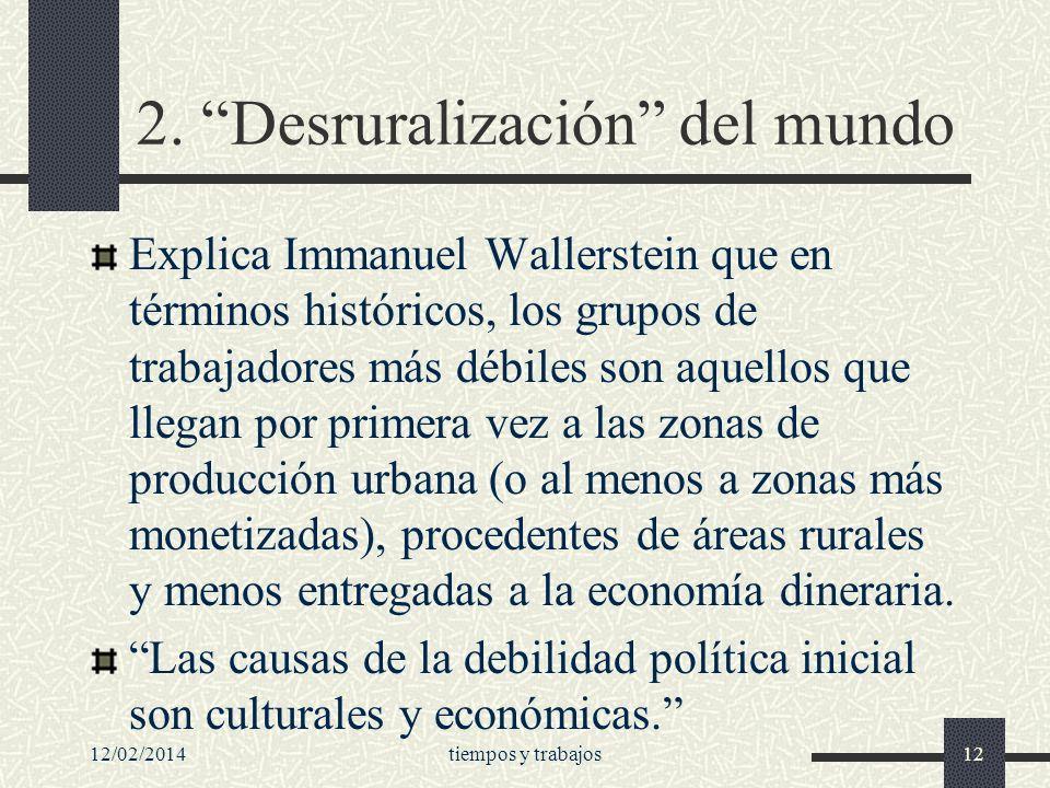 2. Desruralización del mundo