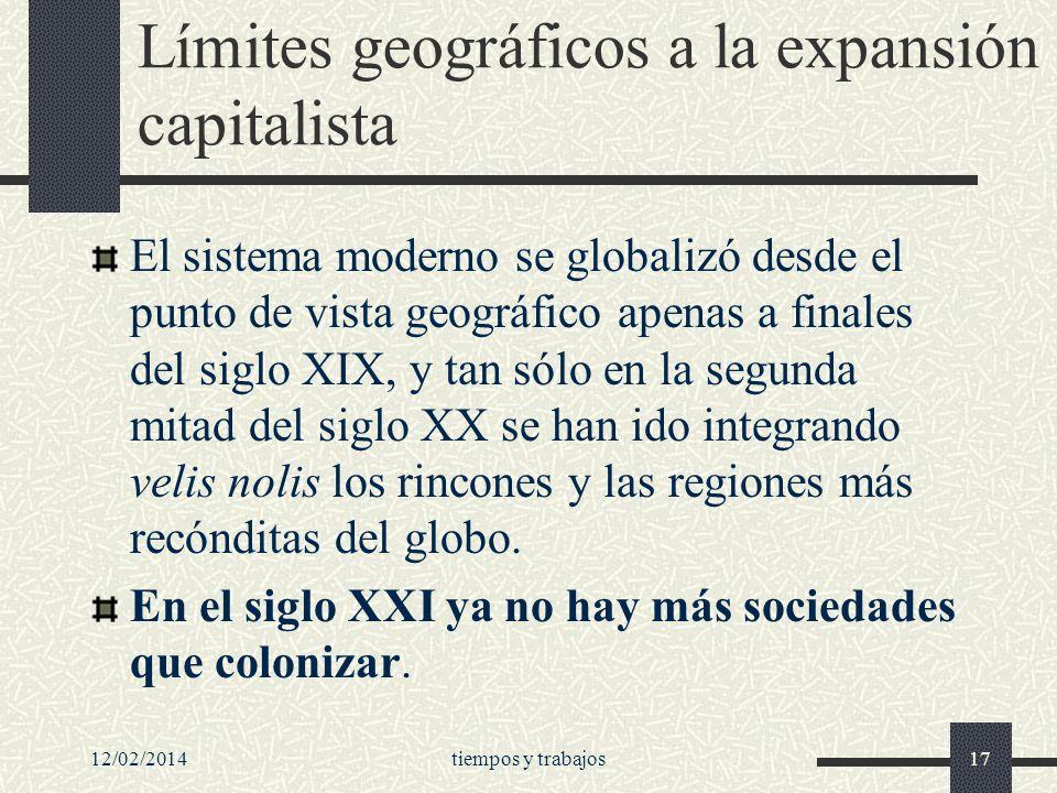 Límites geográficos a la expansión capitalista