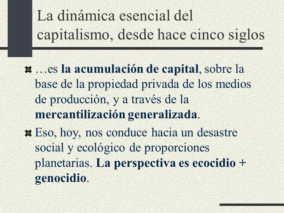La dinámica esencial del capitalismo, desde hace cinco siglos