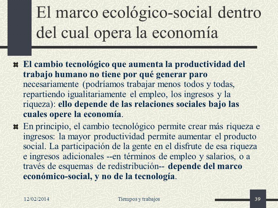 El marco ecológico-social dentro del cual opera la economía