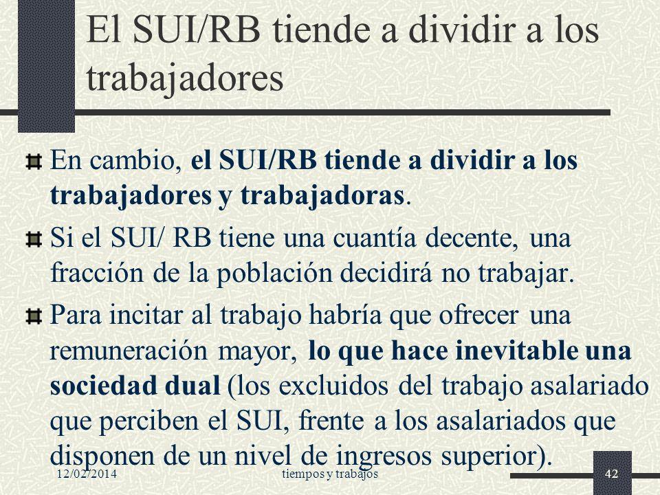 El SUI/RB tiende a dividir a los trabajadores