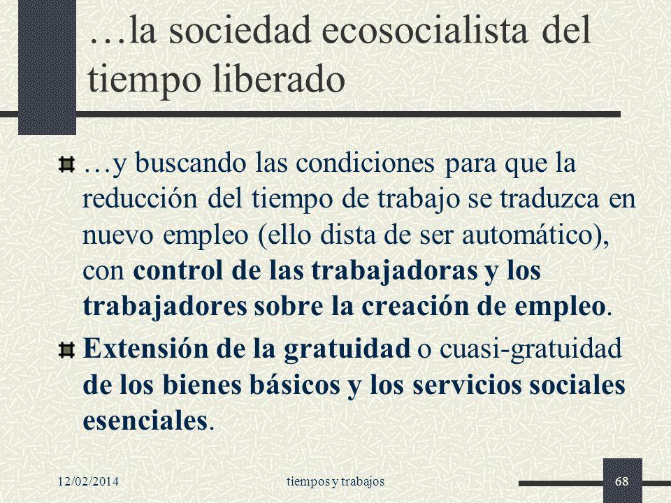 …la sociedad ecosocialista del tiempo liberado