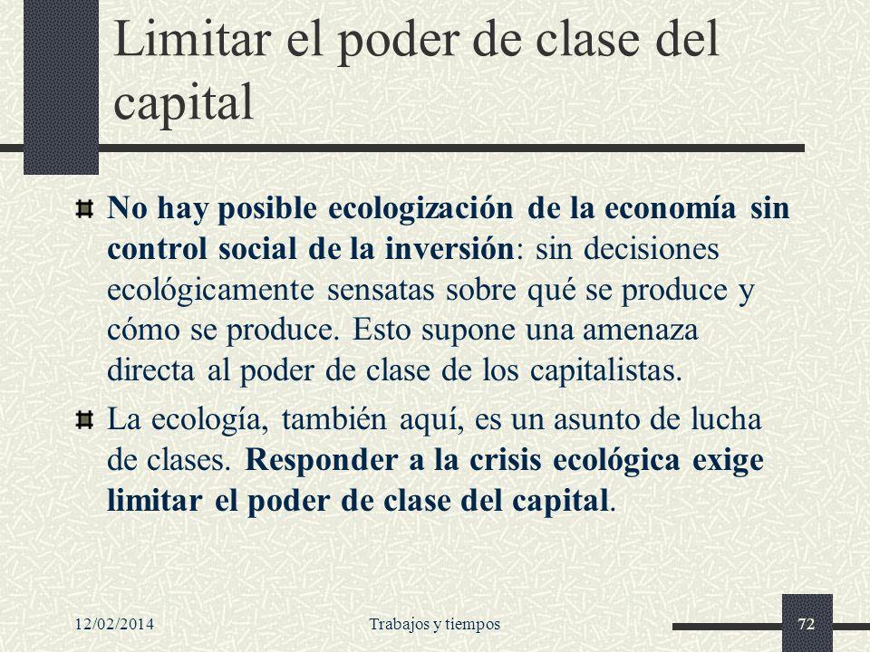 Limitar el poder de clase del capital