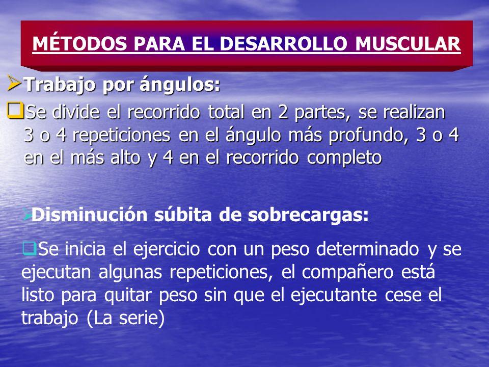 MÉTODOS PARA EL DESARROLLO MUSCULAR