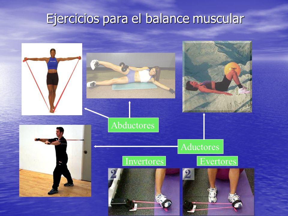 Ejercicios para el balance muscular