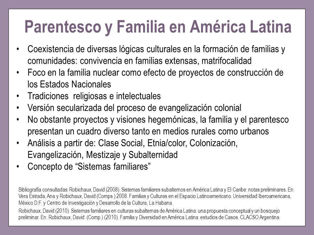 Parentesco y Familia en América Latina