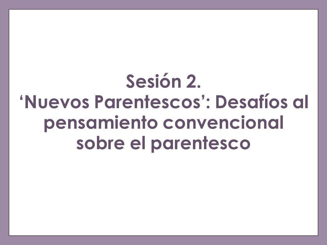 Sesión 2. 'Nuevos Parentescos': Desafíos al pensamiento convencional sobre el parentesco