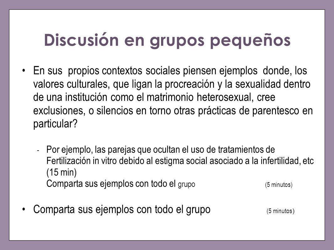 Discusión en grupos pequeños