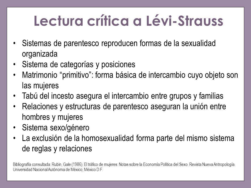 Lectura crítica a Lévi-Strauss