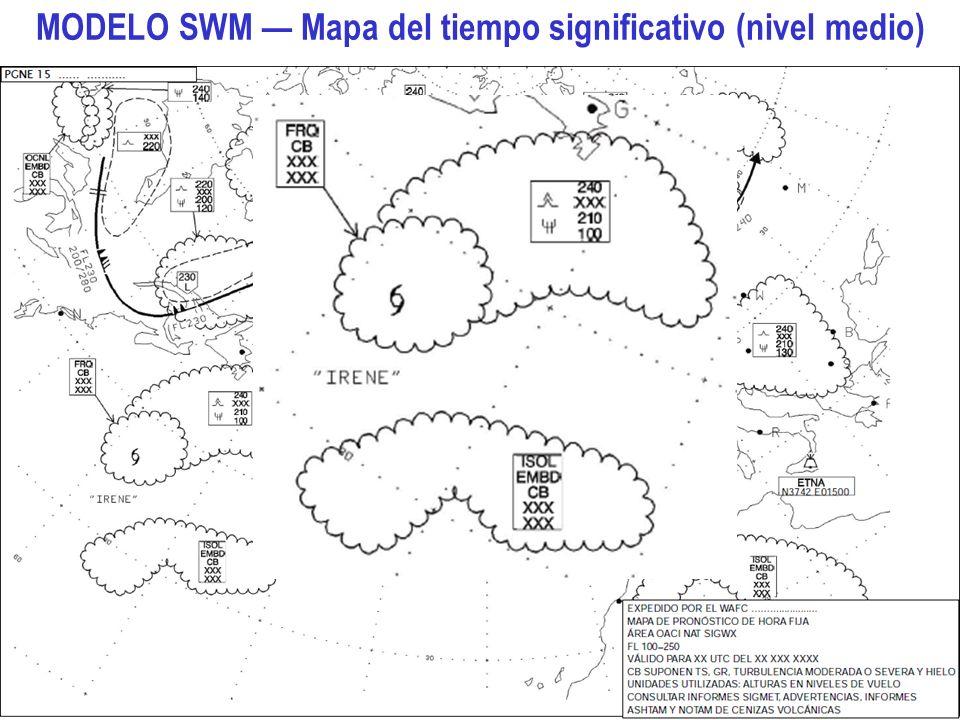 MODELO SWM — Mapa del tiempo significativo (nivel medio)