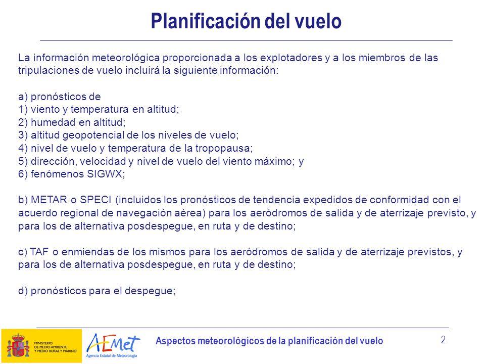 Planificación del vuelo