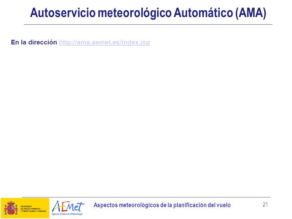 Autoservicio meteorológico Automático (AMA)